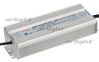 Arlight Блок питания ARPV-ST24320 PFC (24V, 13.3A, 320W) aaa mean well original sp 320 24 24v 13a meanwell sp 320 24v 312w single output with pfc function power supply