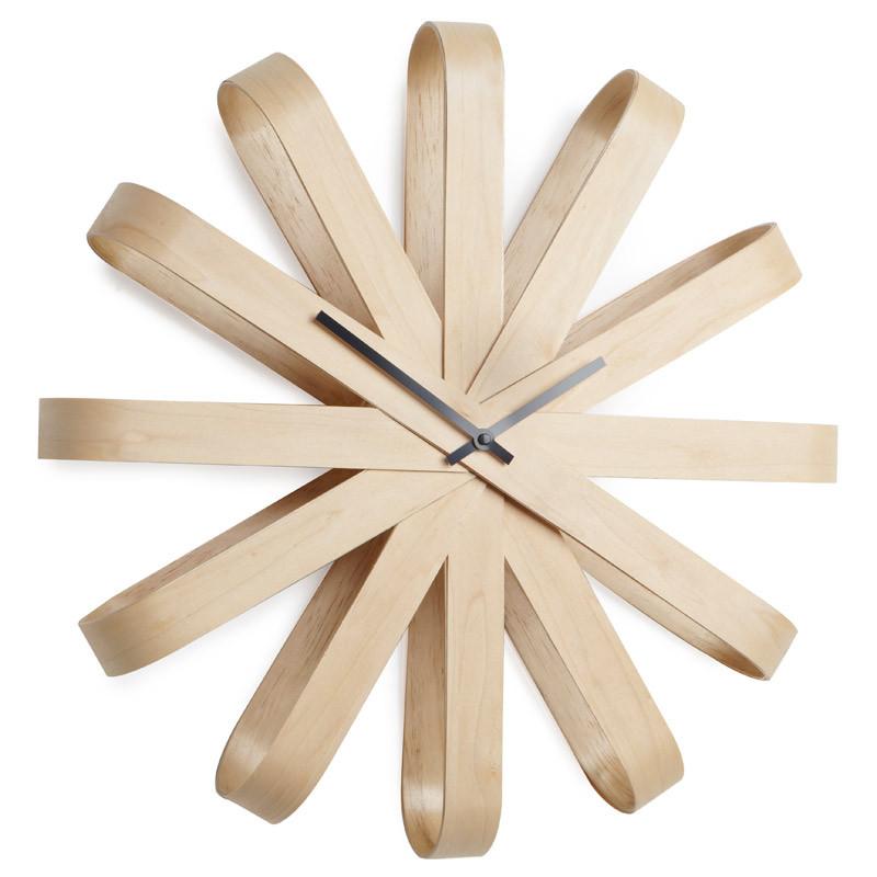 Umbra Часы настенные ribbon дерево