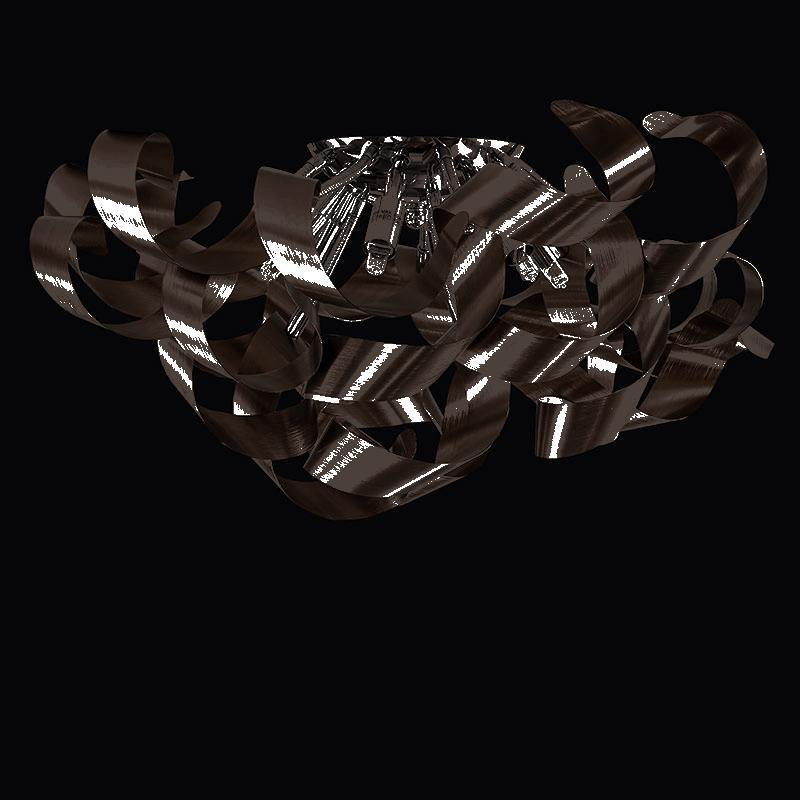 Lightstar 754068 (MX05010015-6А) Люстра TURBIO 6х40W G9 ТЕМНАЯ МЕДЬ, шт lightstar 804020 mc8114 6 люстра lobo 6х40w g9 стекло матовое шт