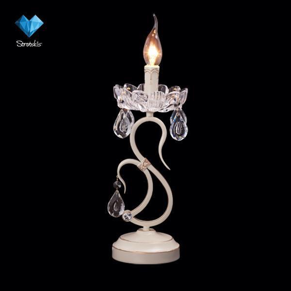 Eurosvet Настольная лампа 12205/1T белый eurosvet настольная лампа eurosvet 12205 1t белый strotskis