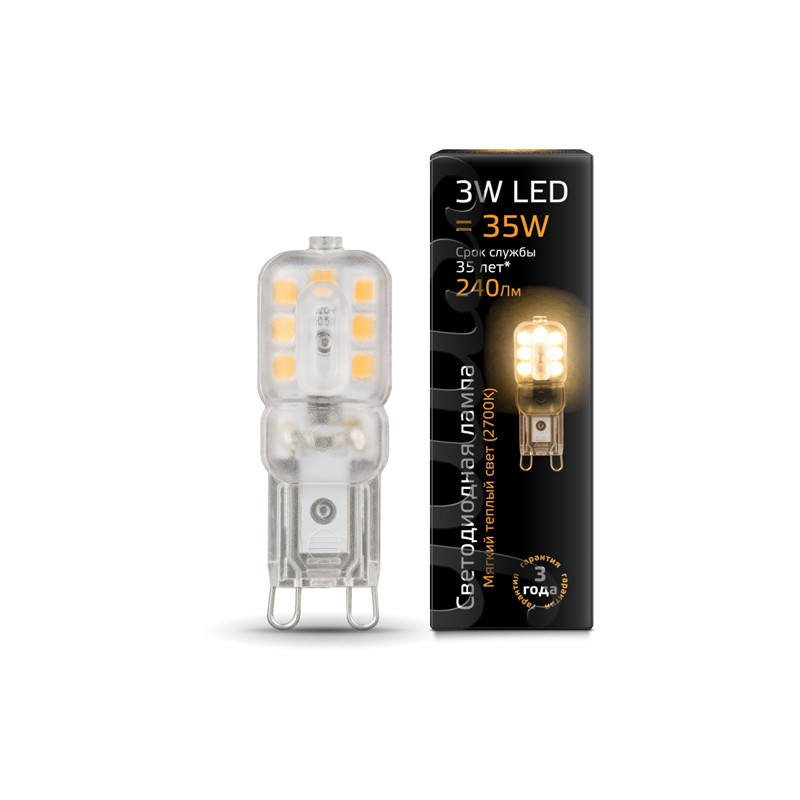 Gauss Лампа Gauss LED G9 AC220-240V 3W 2700K пластик 1/20/200 стоимость