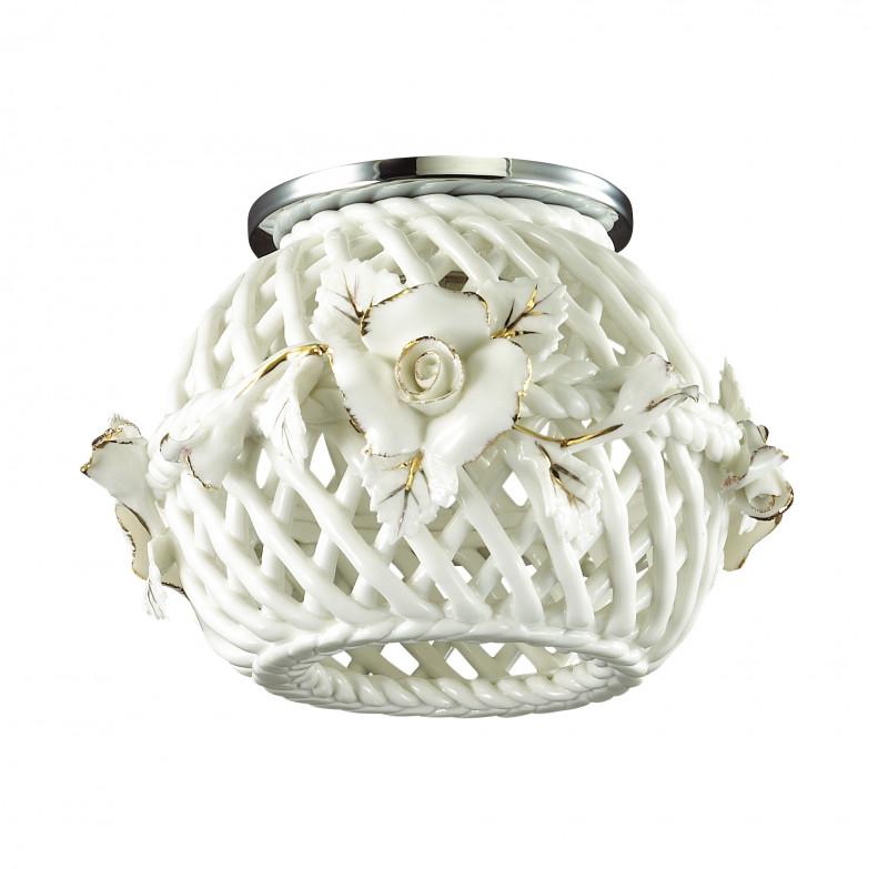 Фото Novotech 370207 NT16 154 белый/золото Встраиваемый декоративный светильник IP20 G9 40W 220V FARFOR. Купить с доставкой