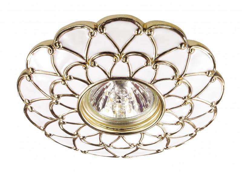 Novotech 370223 NT16 142 белый/золото Встраиваемый декоративный светильник IP20 GU5.3 50W 12V PATTERN все цены