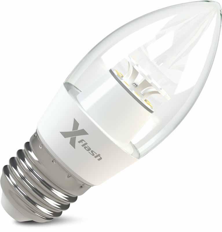 X-Flash Светодиодная лампа XF-E27-CF-6.5W-3000K-220V X-flash лампа светодиодная x flash xf e27 r90 p 12w 3000k 220v 10шт