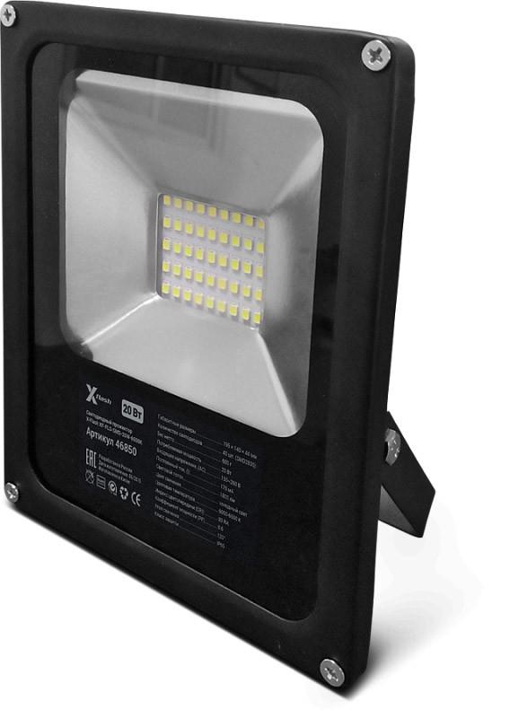 X-Flash Светодиодный тонкий прожектор X-flash XF-FLS-SMD-20W-6500K led прожектор эра ip65 20w 230v холодный свет