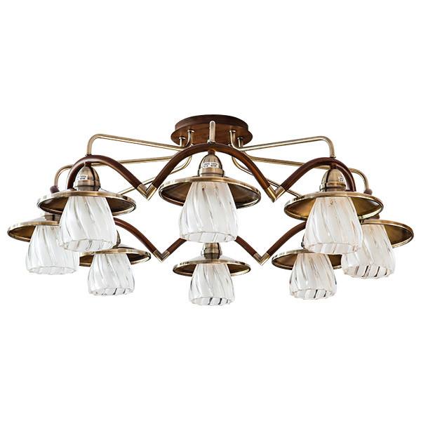 N-Light 407-08-53 JACK antique brass + walnut n light 407 06 53abw antique brass walnut
