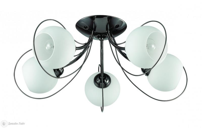LUMION 3083/5C LN16 000 темный хром/стекло/метал. декор Люстра потолочная E14 5*40W 220V ARIA