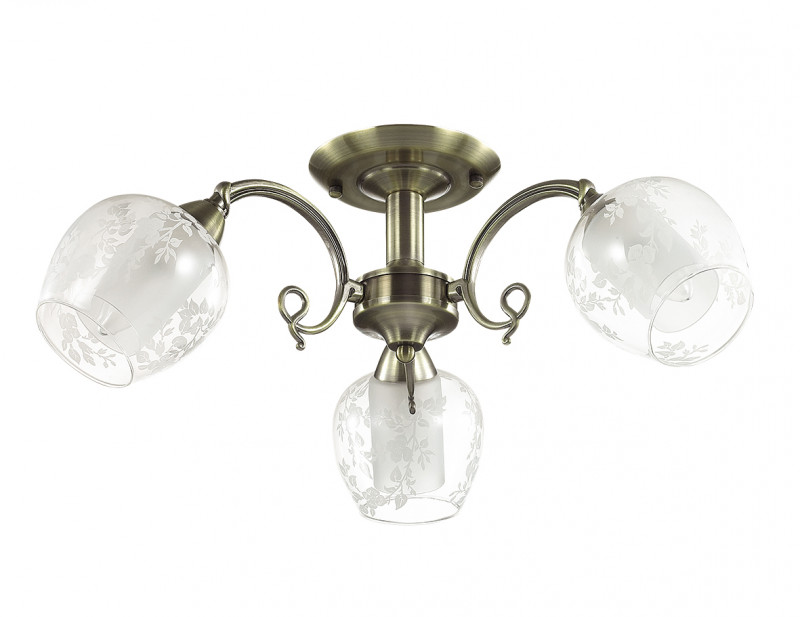 LUMION 3107/3C LN16 000 бронзовый/стекло Люстра потолочная E14 3*60W 220V VELIA