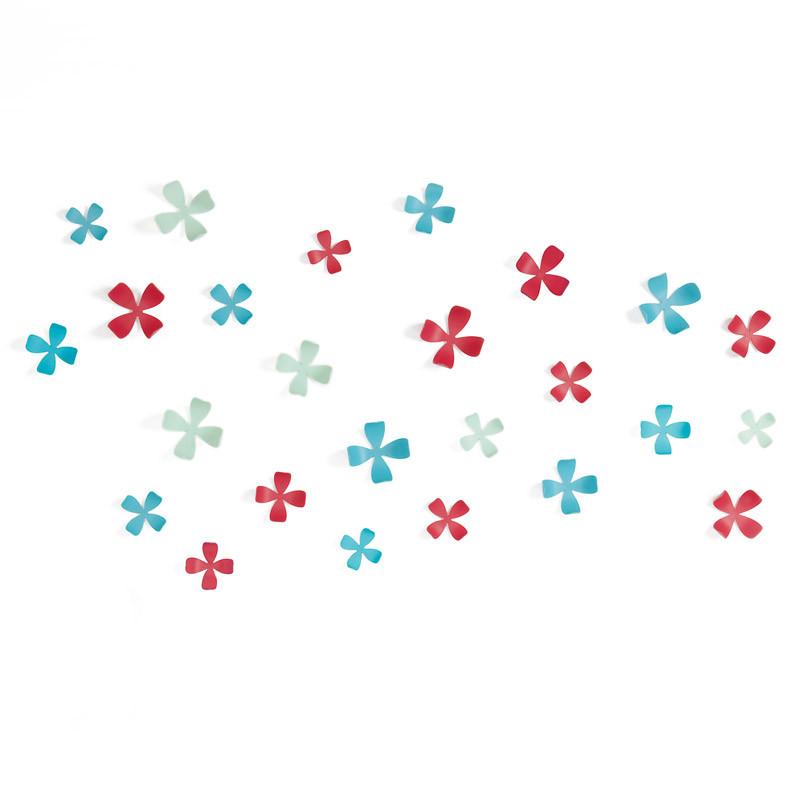 Umbra Декор для стен wallflower 25 элементов разноцветный декор для стен