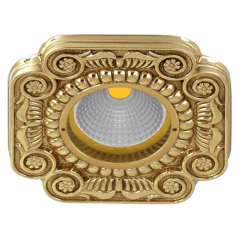 Fede FD1007ROB Квадратный точечный светильник из латуни, блестящее золото светильник точечный накладной коллекция vitoria surfase fd1012sob латунь блестящее золото fede феде