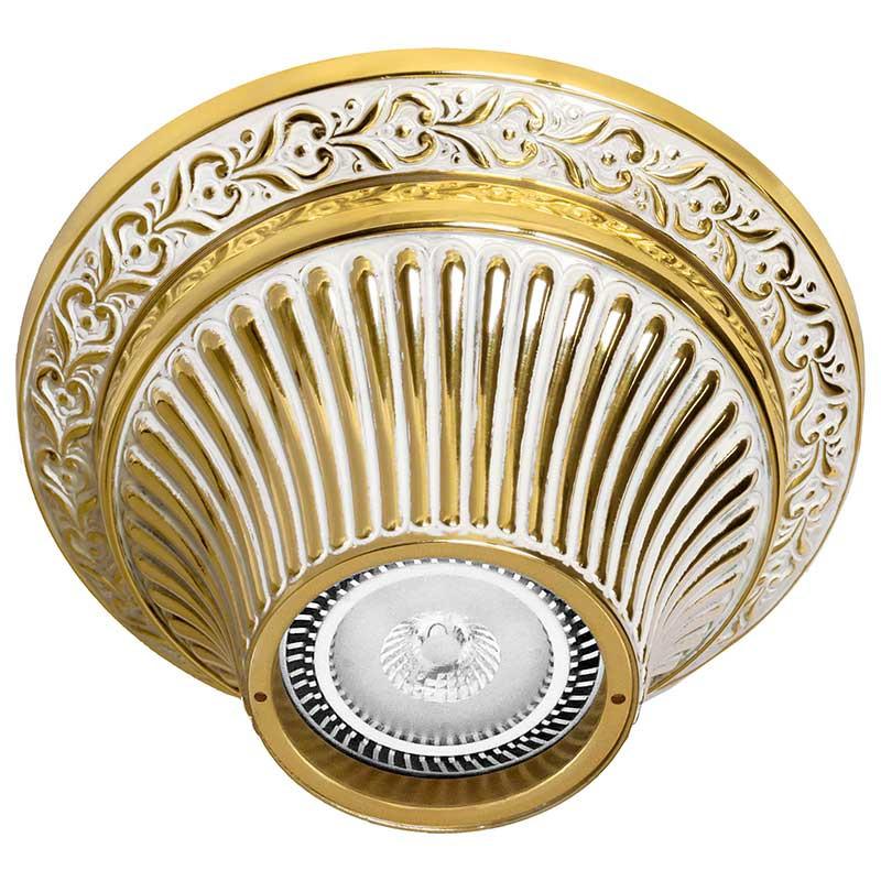 Fede FD1012SOP Накладной точечный светильник из латуни, золото с белой патиной светильник точечный накладной коллекция vitoria surfase fd1012sob латунь блестящее золото fede феде