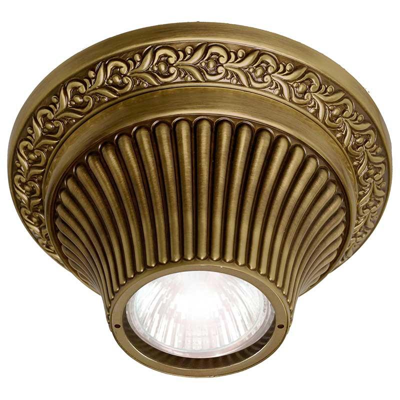 Fede FD1012SPB Накладной точечный светильник из латуни, патина светильник точечный треугольный коллекция chianti lights fd1009rpb светлый латунь патина матовое стекло fede феде