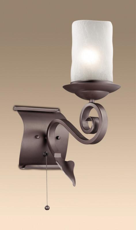 Odeon Light 2438/1W ODL13 337 коричневый Бра c выкл E27 60W 220V BOSTA odeon light 2438 6 odl13 336 коричневый люстра e27 6 60w 220v bosta