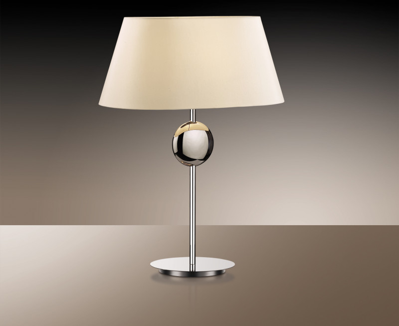 Odeon Light 2195/1T ODL12 581 хром/абажур/бежевый Н/лампа  E27 60W 220V HOTEL