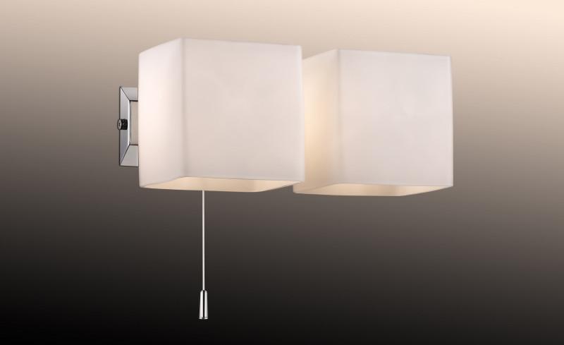 Odeon Light 2183/2W ODL12 816 хром Настенный светильник с выкл G9 2*40W 220V FARO светильник настенный odeon light 2209 3w odl12 719 g9 3 40w 220v bisco хром хрустальный декор