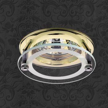 Novotech 369108 NT09 238 латунь Встраиваемый НП светильник GU5.3 50W 12V ROUND встраиваемый светильник novotech pearl round 369441
