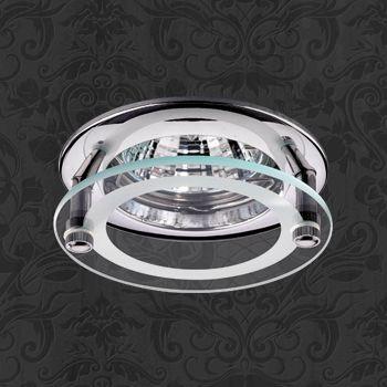 Novotech 369109 NT09 238 хром Встраиваемый НП светильник GU5.3 50W 12V ROUND встраиваемый светильник novotech pearl round 369441