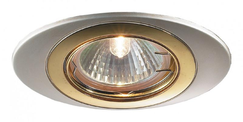 Novotech 369301 NT09 278 перламутр.хром/золото Встраиваемый НП светильник IP20 GU5.3 50W 12V IRIS