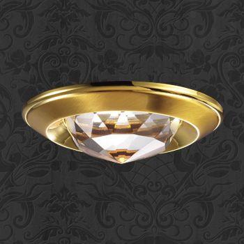 Фото Novotech 369428 NT10 233 золото Встраиваемый НП светильник IP20 GU5.3 50W 12V GLAM. Купить с доставкой