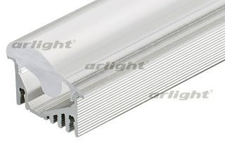 Arlight Профиль с экраном 2 метра ALU-ASYMETRIC-2000 ANOD+FROST LENS arlight заглушка alu asymetric правая