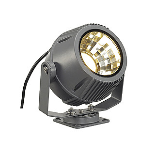 SLV FLAC BEAM LED spot, stonegrey, with Philips DLMi module 2000lm, 3000K slv прожектор светодиодный slv led outdoor beam ip65 30w 3000k 231112
