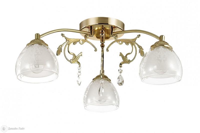 LUMION 3072/3C LN16 000 золото/стекло Люстра потолочная E14 3*40W 220V MARLONA