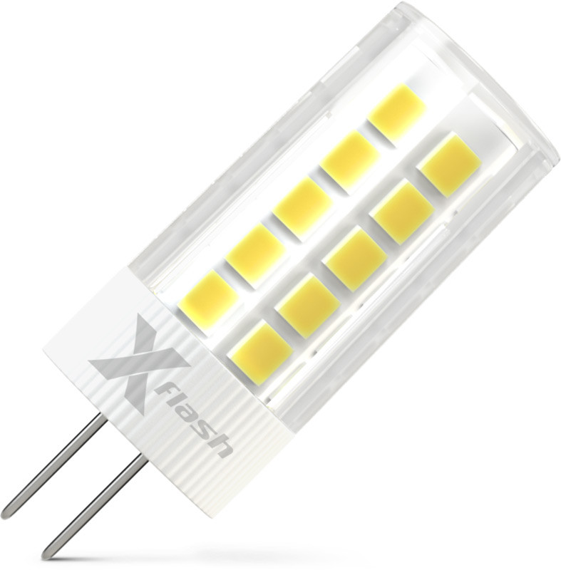 X-Flash Светодиодная лампа X-flash XF-G4-35-C-3W-3000K-12V  (арт.47697) лампочка x flash spotlight mr16 xf spl l gu5 3 6w 3000k 12v желтый свет линза 43507
