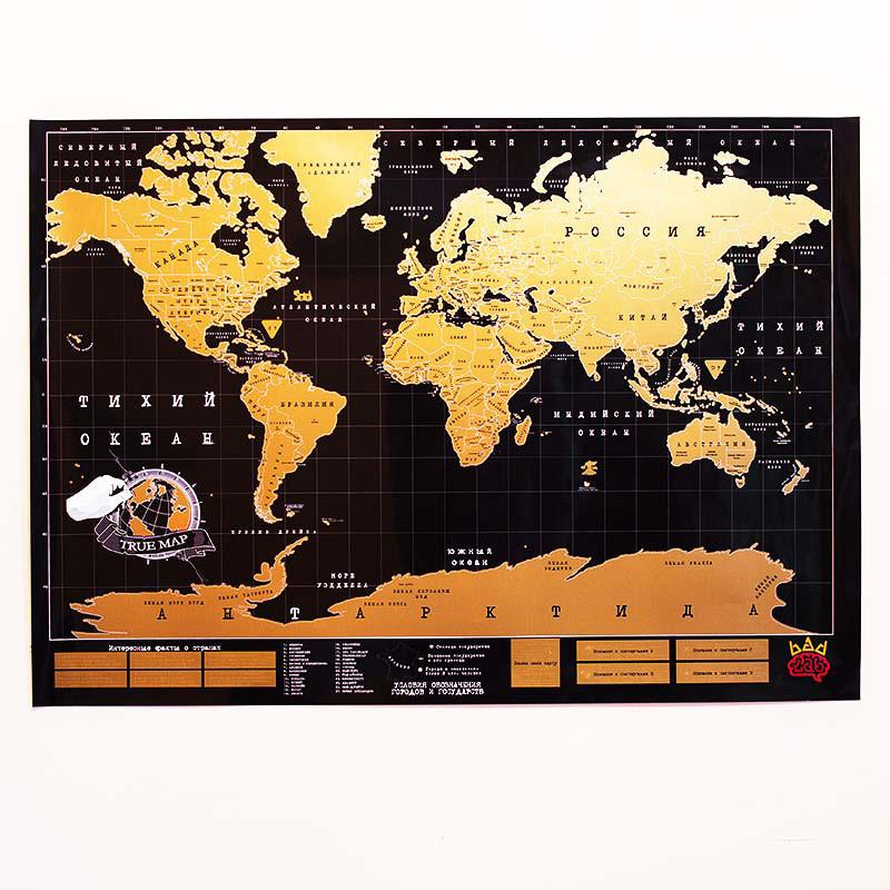 BadLab Карта мира true map черная