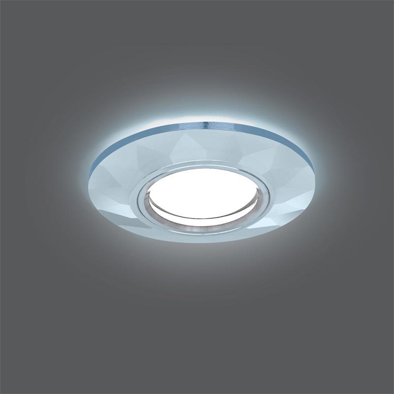 Gauss Светильник Gauss Backlight BL057 Круг Гран. Кристалл/Хром, Gu5.3, LED 4100K 1/40 gauss светильник gauss backlight bl070 круг гран черный серебро хром gu5 3 led 4100k 1 40