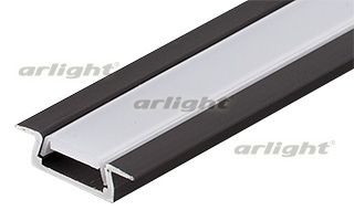 Arlight Алюминиевый Профиль MIC-F-2000 ANOD Black arlight алюминиевый профиль hr 2000