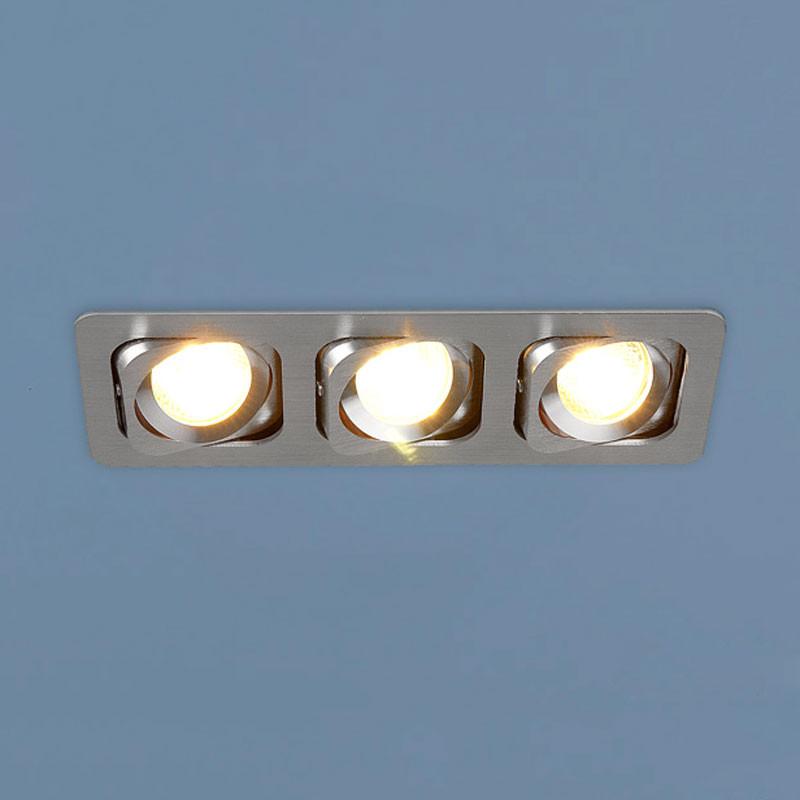Elektrostandard 1021/3 CH (хром) встраиваемый светильник elektrostandard техно 1021 1