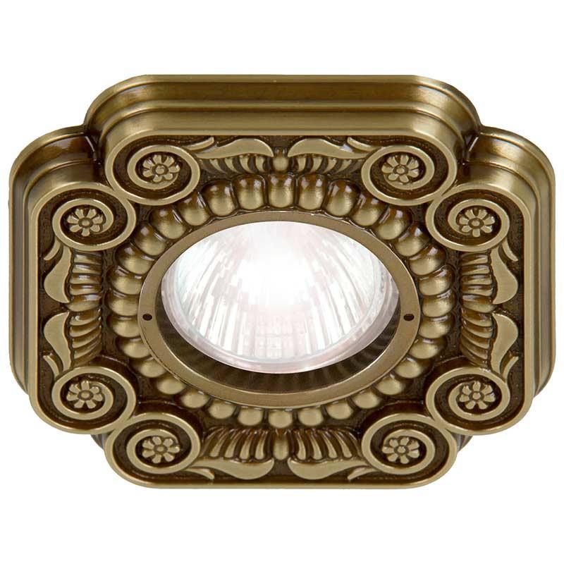 Fede FD1007RPB Квадратный точечный светильник из латуни, патина fede fd1026ccb квадратный точечный светильник из латуни bright chrome