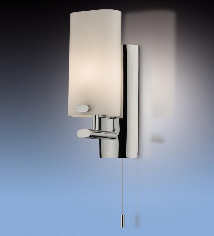 Odeon Light 2148/1W ODL11 863 хром Бра с выкл IP44 G9 40W 220V BATTO odeon light 2217 3w odl12 815 хром хрусталь подсветка с выкл g9 3 40w 220v loden