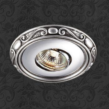 Novotech 369730 NT12 406 хром/серебро Встраиваемый светильник IP20 GU5.3 50W 12V CERAMIC novotech 369521 nt11 406 алюминий белый голубой встраиваемый нп светильник ip20 gu5 3 50w 12v gzhel