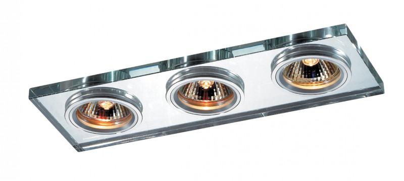 все цены на Novotech 369766 NT12 237 алюминий/зеркальный Встраиваемый светильник IP20 GU5.3 3*50W 12V MIRROR онлайн