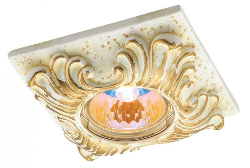 Novotech 369568 NT12 225 жёлтый/золото Встраиваемый светильник IP20 GU5.3 50W 12V SANDSTONE встраиваемый светильник novotech 369568