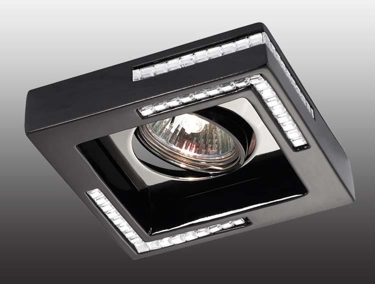 Novotech 369844 NT14 220 черный Встраиваемый светильник IP20 GU5.3 50W 12V FABLE novotech 369734 nt12 221 дерево встраиваемый светильник ip20 gu5 3 50w 12v fable