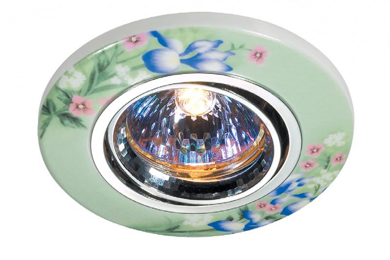Novotech 369554 NT11 222 хром/цветной Встраиваемый НП светильник IP20 GU5.3 50W 12V CERAMIC novotech 369521 nt11 406 алюминий белый голубой встраиваемый нп светильник ip20 gu5 3 50w 12v gzhel