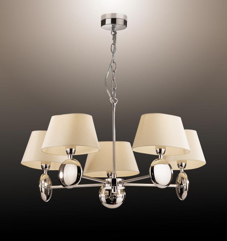 Odeon Light 2195/5 ODL12 580 хром/абажур/бежевый Люстра E14 5*40W 220V HOTEL