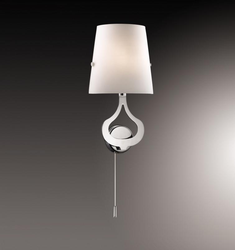 Odeon Light 2184/1W ODL12 813 хром Настенный светильник с выкл E14 40W 220V TIARA цены онлайн