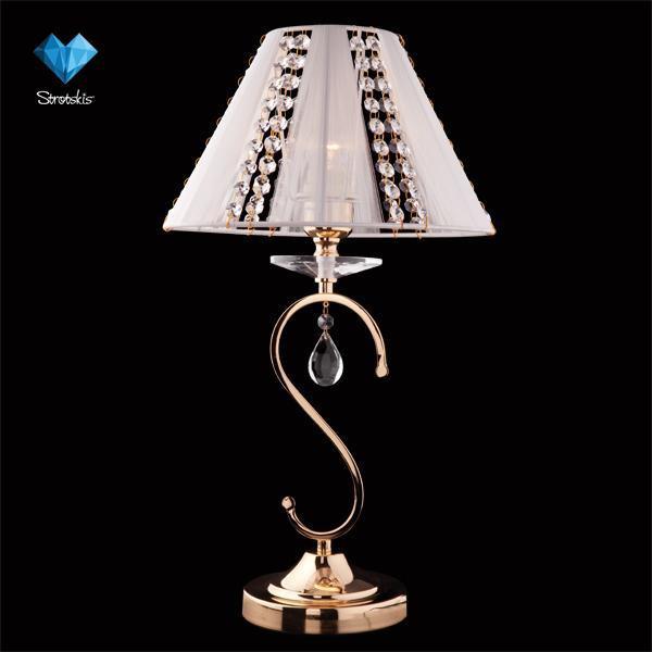 Eurosvet Настольная лампа 3419/1T золото/белый Strotskis