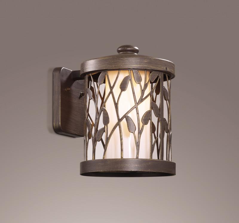 Odeon Light 2287/1W ODL12 930 патина коричневый Уличный настен светильник IP44 E27 100W 220V LAGRA odeon 2287 1w