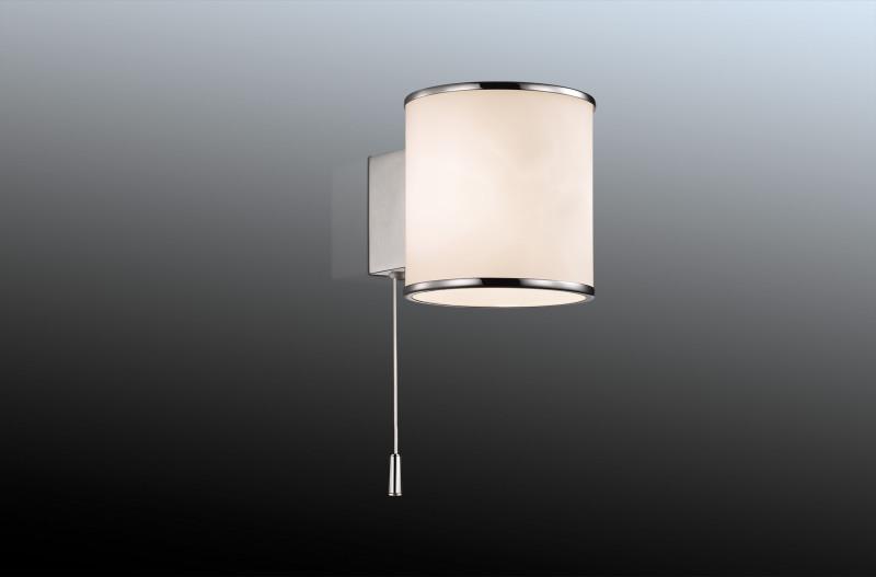 Odeon Light 2182/1W ODL12 817 хром Настенный светильник с выкл G9 40W 220V PALU светильник настенный odeon light 2209 3w odl12 719 g9 3 40w 220v bisco хром хрустальный декор