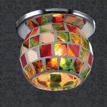 Фото Novotech 369464 NT09 210 хром/цветной Встраиваемый светильник G9 40W 220V VITRAGE. Купить с доставкой
