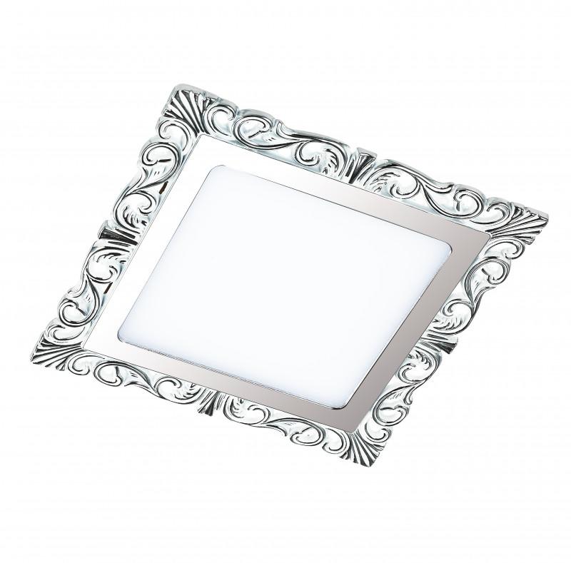Фото Novotech 357281 NT16 316 белый/хром Встраиваемый светодиодный светильник IP20 45LED 9W 220-240V PEILI. Купить с доставкой