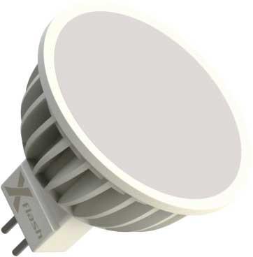 X-Flash Светодиодная лампа XF-SPL-MR16-GU5.3-5W-3K-220V X-flash лампочка x flash spotlight mr16 xf spl l gu5 3 6w 3000k 12v желтый свет линза 43507