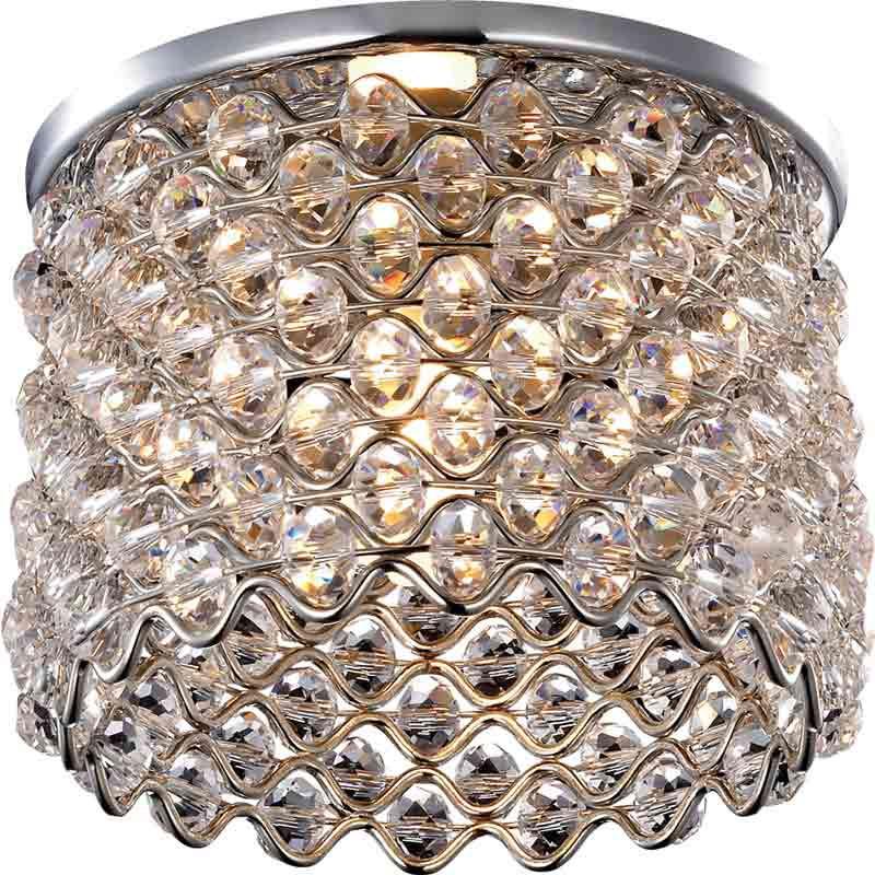 Novotech 369894 NT14 183 хром Встраиваемый светильник IP20 G9 40W 220V PEARL встраиваемый светильник novotech pearl round 369441