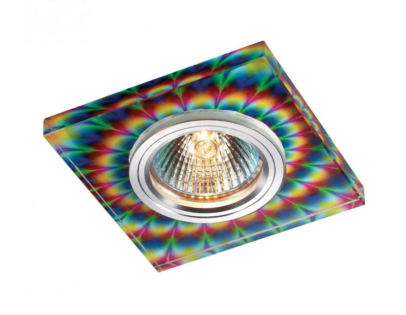 Фото Novotech 369912 NT14 231 алюминий/цветной Встраиваемый светильник IP20 GU5.3 50W 12V RAINBOW. Купить с доставкой