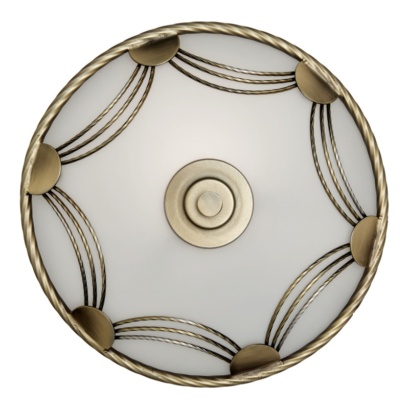 Sonex 1219 SN14 021 бронза/белый Потолочн E27 60W 220V SALVA накладной светильник sonex salva 1219