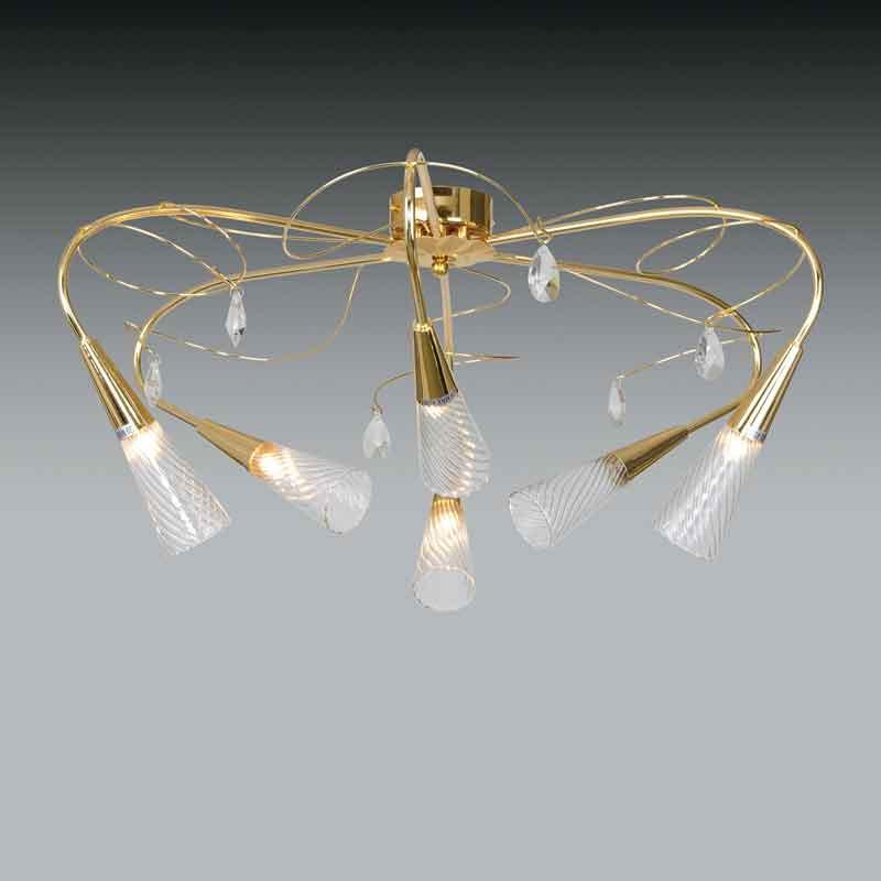 Lightstar 711063 (SX1105/6)  Люстра AEREO 6х25W G9 gold foil, шт lightstar 804040 c0290 09l люстра lobo 9х40w g9 стекло матовое шт